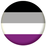Asexual Pride Flag 25mm Keyring